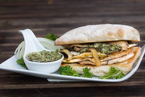 Chicken Kra Prow Sandwich