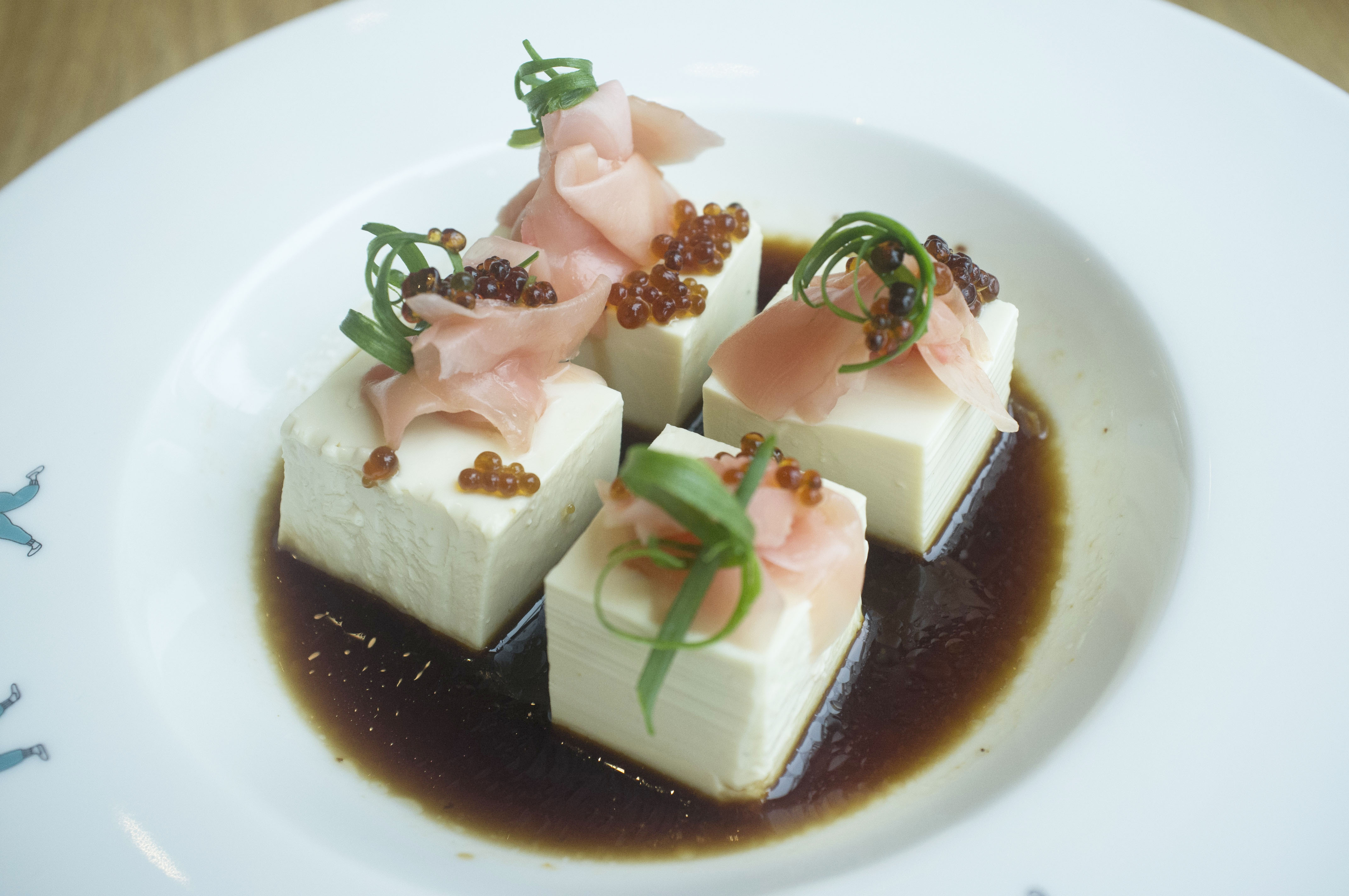 Cold Tofu With Soya Pearls