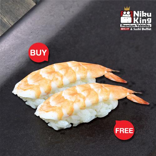 [ 1 Free 1 ] Ebi Sushi
