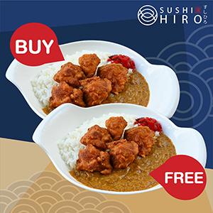 [ 1 Free 1 ] Tori Karaage Curry Rice