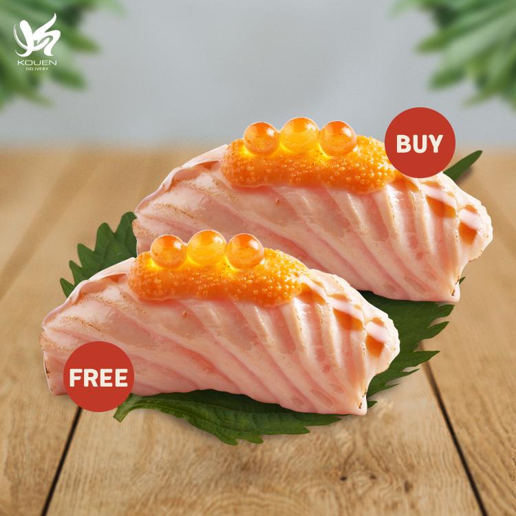 1 free 1 - Salmon Mentai Spicy Sushi