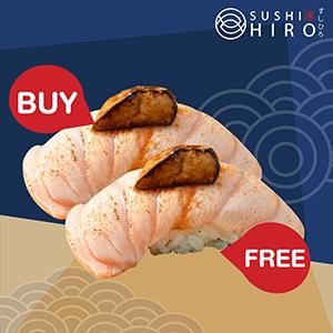 [ 1 Free 1 ] Salmon Foiegras Sushi