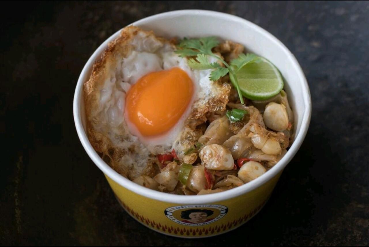 Squid roe with chili & salt stir-fried noodles + Fried egg