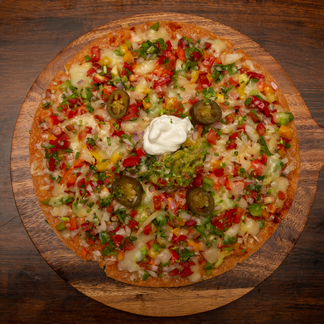 Vegetarian Mexican Ole Pizza
