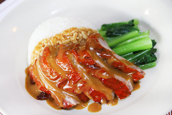 Rice with roasted duck
