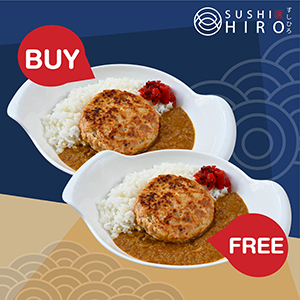 [ 1 Free 1 ] Salmon Hamburg Curry Rice