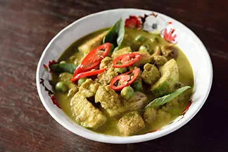 Green Curry Textured Soy Protein (veggies)