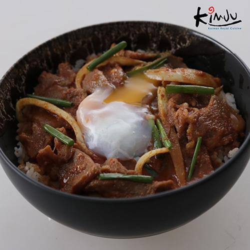 Rice bow with pork bulkoki sauce