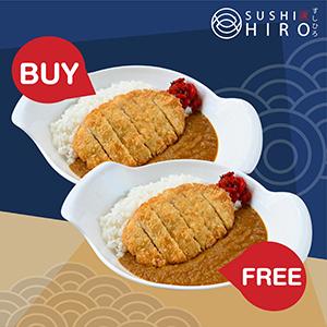 [ 1 Free 1 ] Buta Katsu Curry Rice