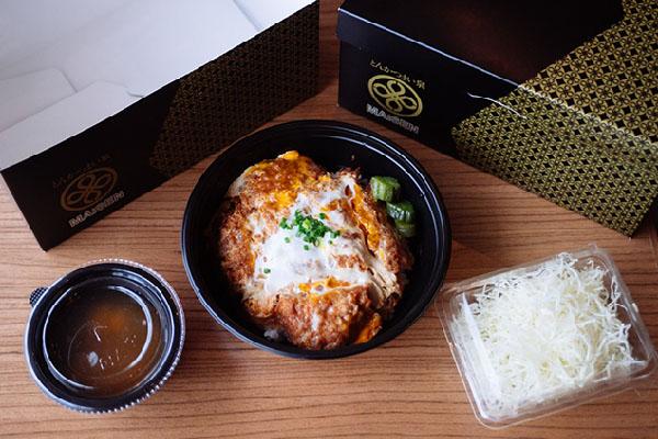 Kurobuta Katsu With Egg bowl Set