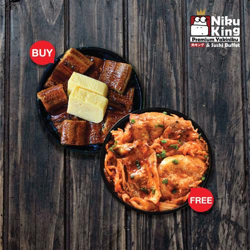 Unagi Mini Donburi Free Pork Kimchi Mini DonBuri