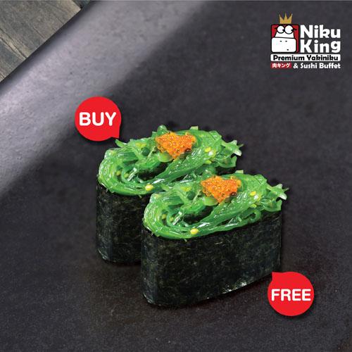 [ 1 Free 1 ] Hiyashi Wakame Sushi