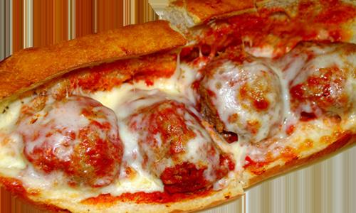 Parmigiana Subs Meatballs