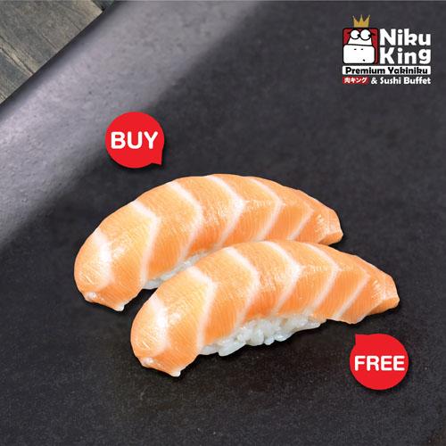[ 1 Free 1 ] Salmon Sushi
