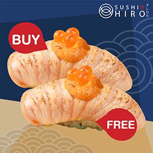 [ 1 Free 1 ] Salmon Mentai Sushi