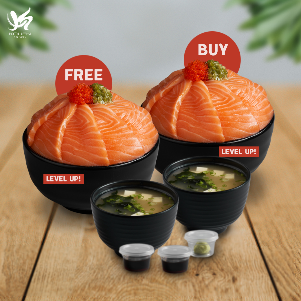 1Free1 : Salmon Level up! Don Set Free Salmon Level up! Don Set