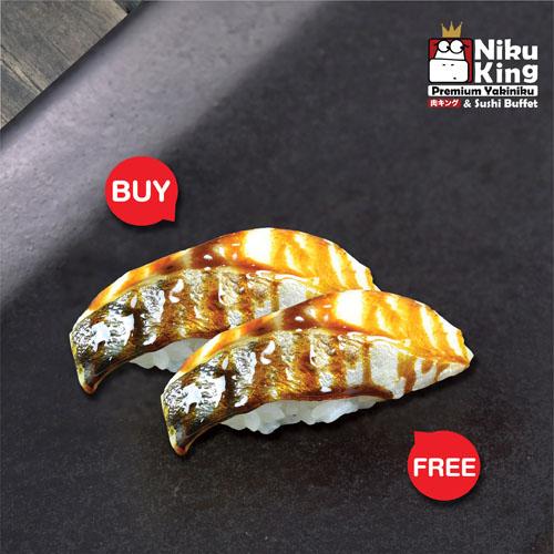 [ 1 Free 1 ] Aburi Saba Sushi