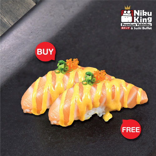 [ 1 Free 1 ] Spicy Salmon Sushi