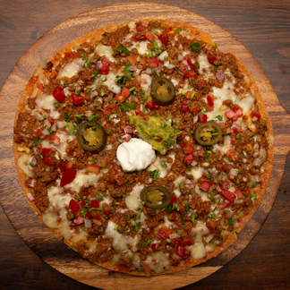 Beef Mexican Ole Pizza