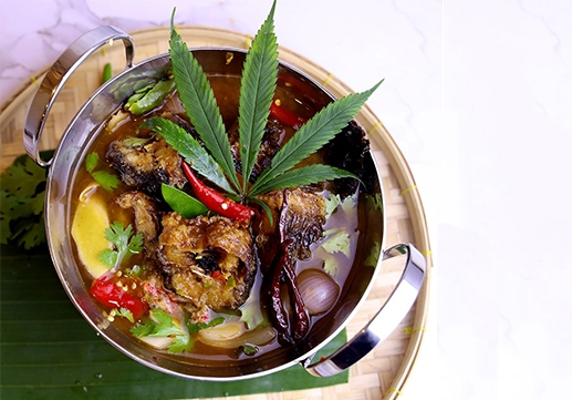 Catfish in Tom Yoong soup with herb