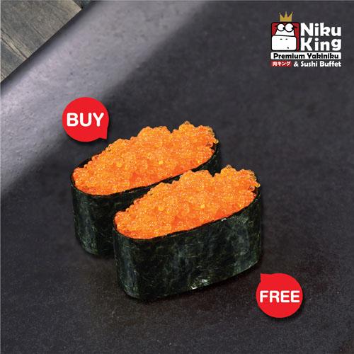 [ 1 Free 1 ] Ebiko Sushi