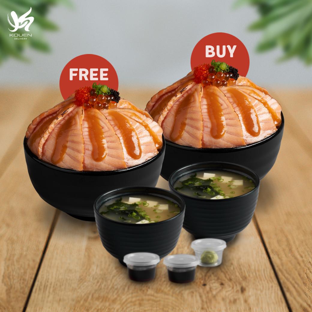 1 Free 1 : Salmon Saikyo Don Set Free Salmon Saikyo Don Set