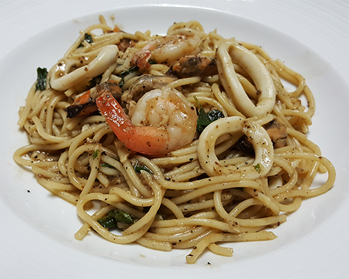 Spaghetti Seafood Black Pepper