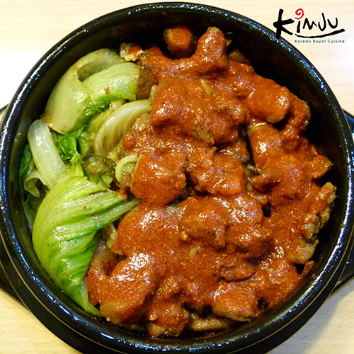 Rice bow with pork ,TECHI TAKCALBI