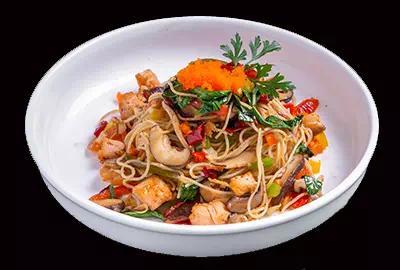 Spaghetti Salmon Spicy