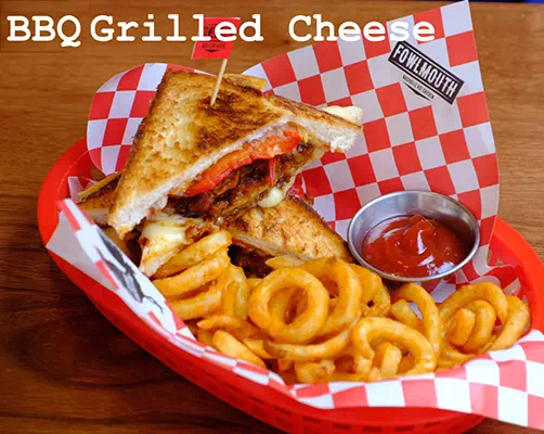 Hot Chicken BBQ Grilled Cheese