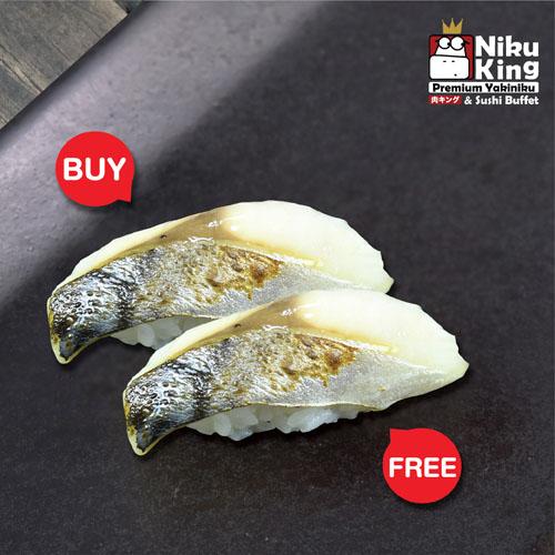 [ 1 Free 1 ] Saba Sushi