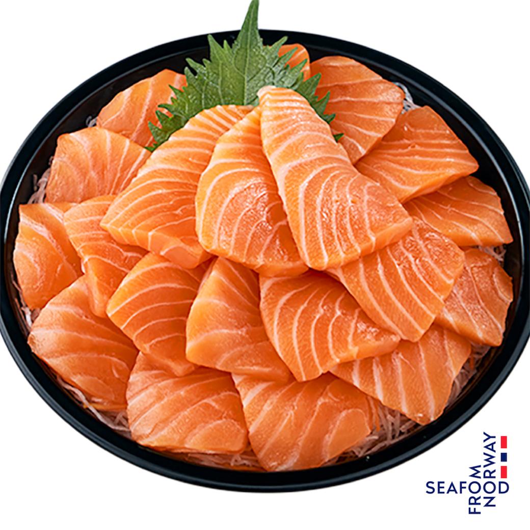 Party Salmon Sashimi 20 pcs. Special Price 599 (Free Seafood Sauce 2 )