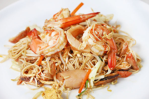 Hokkian style fried noodle