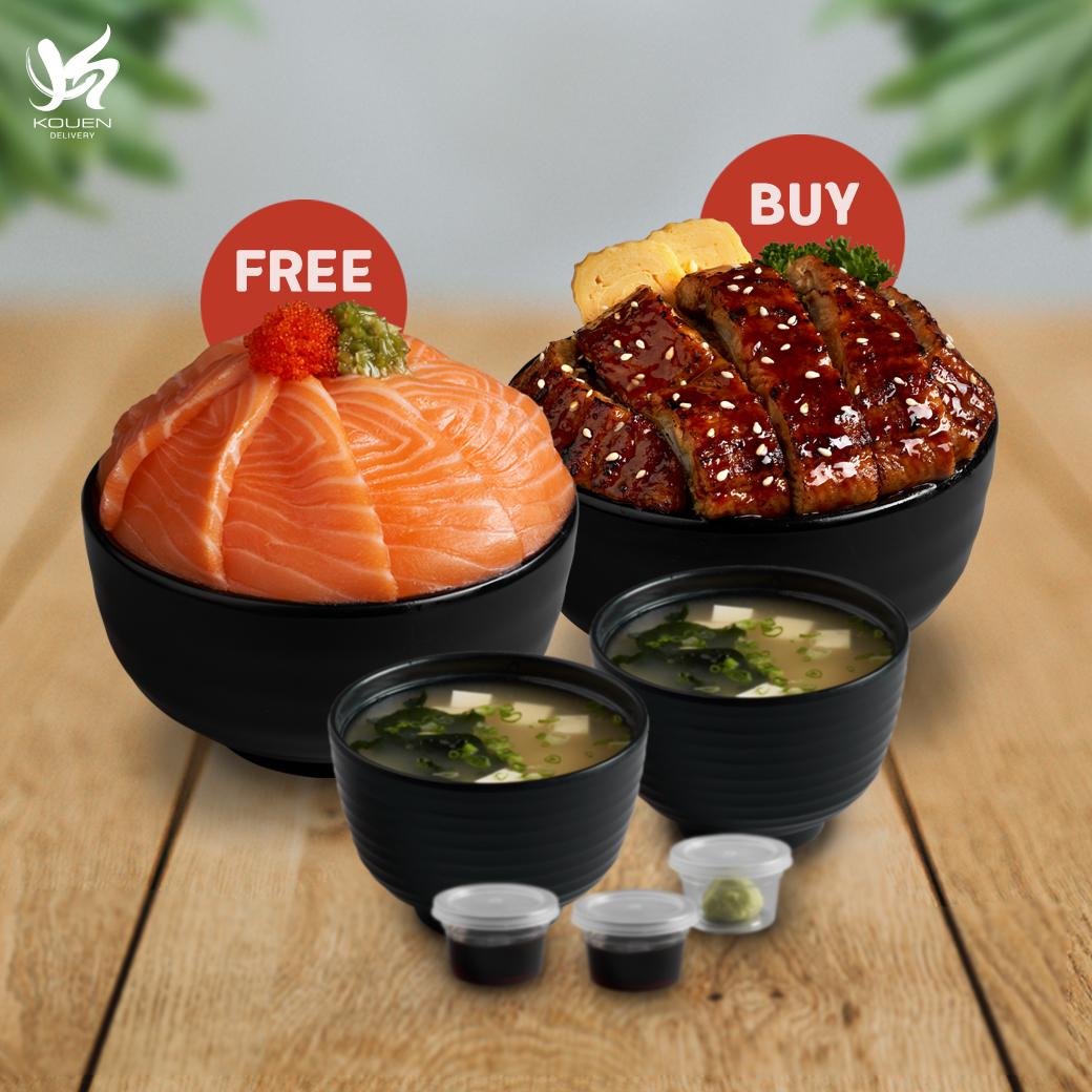1Free1 : Unagi Don Set Free Salmon Don Set