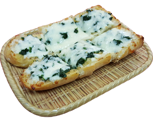 Garlic Bread with Cheese & Spinach