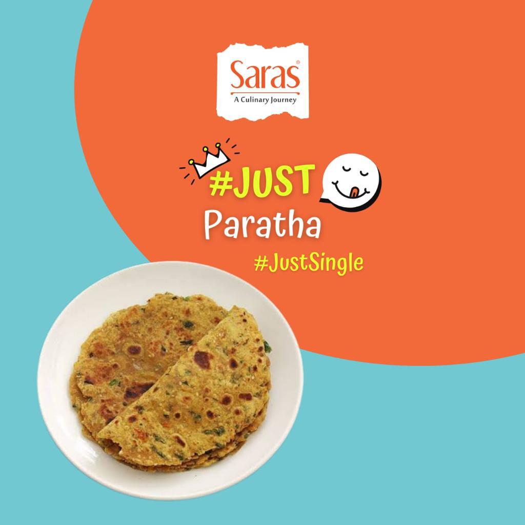 Just Daal & Papad Churi Paratha