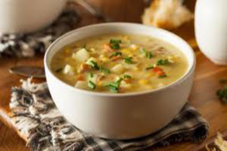 Sweet corn Soup with Chicken or vegetable