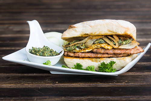Italian Pork Sausage Kra Prow Sandwich