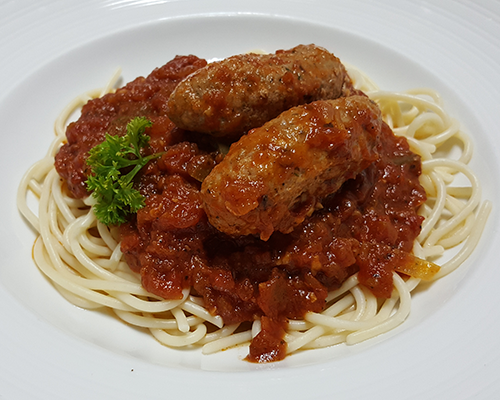 Spaghetti with Italian Sausages