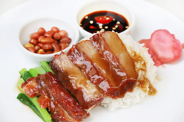 Rice with BBQ Pork