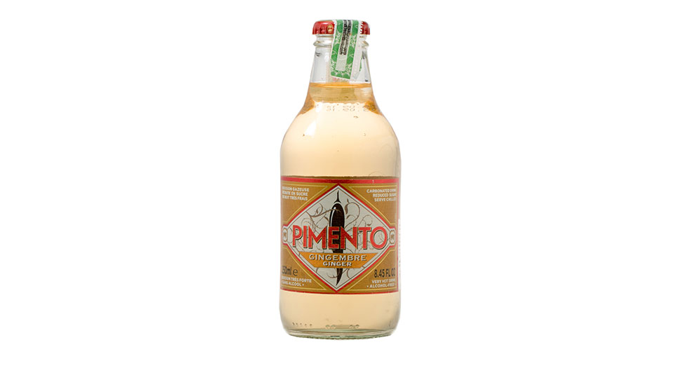 Non-alcoholic. Pimento is a refreshing fizzy drink made with ginger, tonic and hot pepper. Low in sugar, full of taste and naturally delicious. Best served cold it goes really well with the savory flavors of pizza.