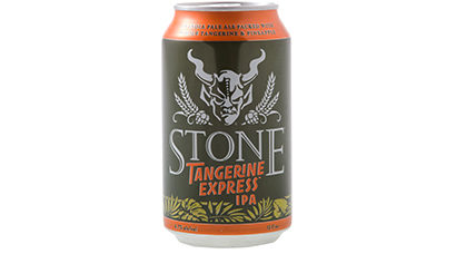 """6.7% ABV - Bountiful whole tangerine purée, which brings pithy, crisp bitterness to the citrus flavor. In addition to the complexities of the tangerine — the likes of which you can only get by using the whole fruit — we judiciously employ just a hint of whole pineapple for a backnote (you'd likely not even pick it out of the mix if we didn't tell you it was there). We're not looking for a sweet concoction to appease the """"I want my beer to taste like fruit juice"""" crowd. This is Stone. We like our IPAs to taste like IPAs."""